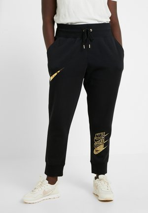 Pantalon de survêtement - black/metallic gold