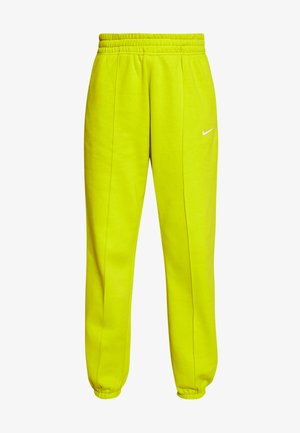 PANT TREND - Tracksuit bottoms - bright cactus/(white)