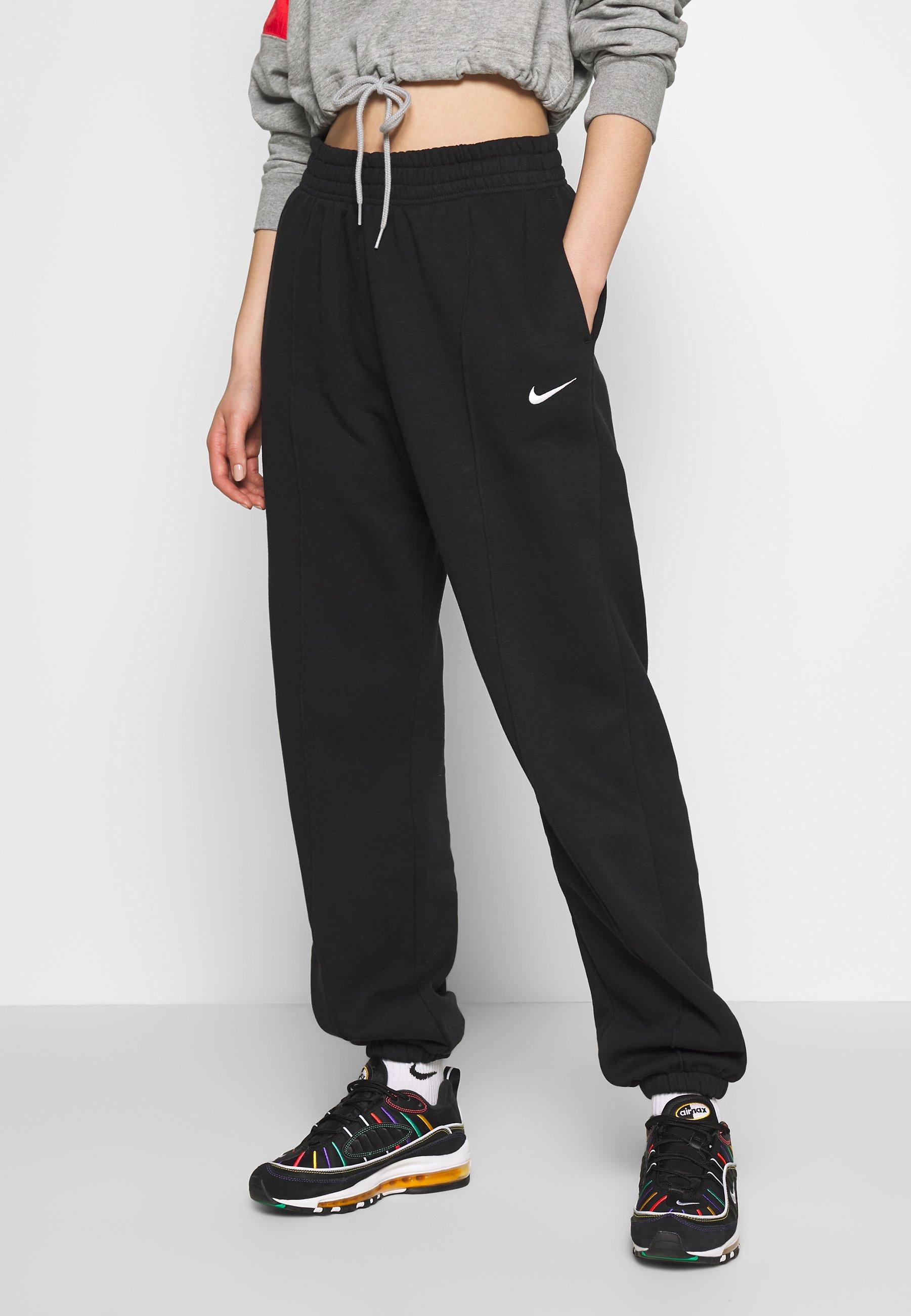 Nike Sportswear PANT TREND - Spodnie treningowe - black/white