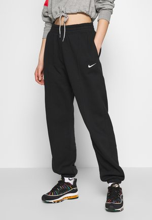 PANT TREND - Tracksuit bottoms - black/white