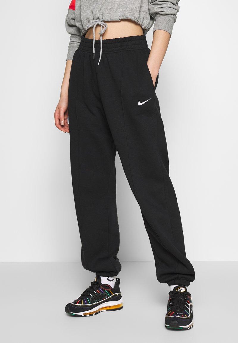Nike Sportswear - W NSW PANT FLC TREND - Träningsbyxor - black/white