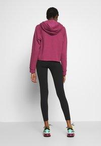 Nike Sportswear - CLUB - Leggings - Trousers - black/white - 2