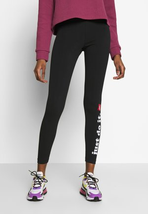 CLUB - Leggings - Trousers - black/white