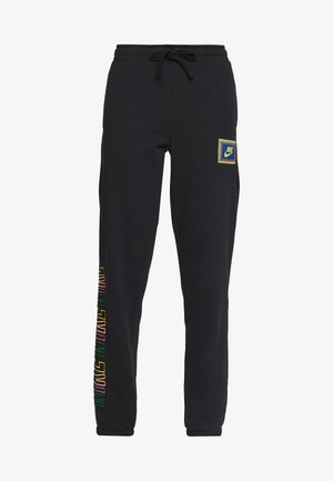 PEACE PACK PANT - Verryttelyhousut - black/green spark