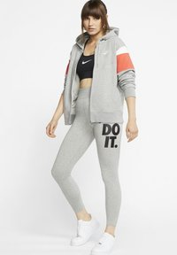 Nike Sportswear - Leggings - Trousers - dark grey heather/black - 1