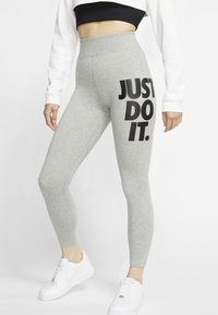 Nike Sportswear - Leggings - Trousers - dark grey heather/black - 0