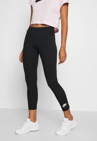 Nike Sportswear - Leggings - black/ice silver - 0