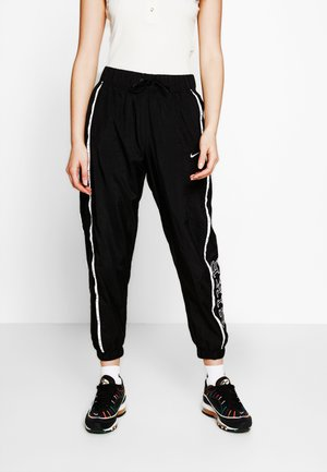 PANT PIPING - Pantalon classique - black/white