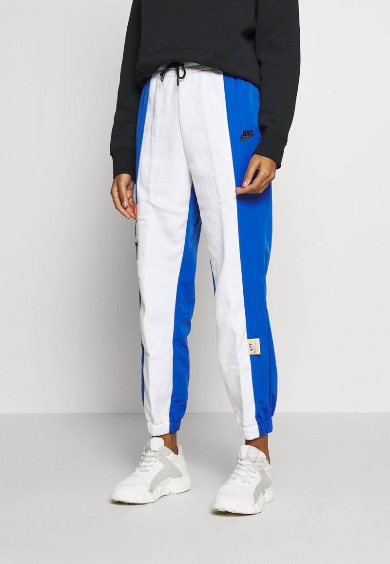 Nike Sportswear - W NSW ICN CLSH PANT MIXED OS - Tracksuit bottoms - birch heather