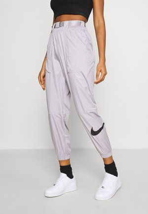 PANT - Tracksuit bottoms - silver/lilac/black