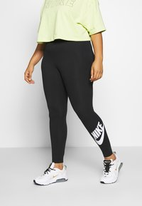 Nike Sportswear - LEGASEE PLUS - Leggings - Trousers - black/white - 0