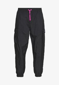Nike Sportswear - W NSW ICN CLSH PANT WVN - Tracksuit bottoms - black/fire pink - 4