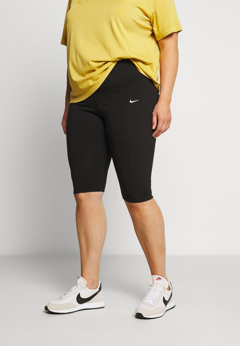Nike Sportswear - LEGASEE KNEE PLUS - Shorts - black/white