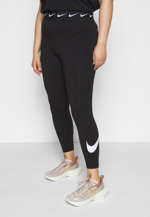 CLUB PLUS - Leggingsit - black/white
