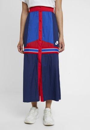 SKIRT - Jupe longue - blue void/game royal/university red/white