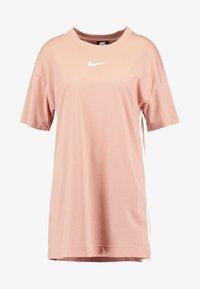 Nike Sportswear - DRESS - Žerzejové šaty - rose gold/white - 5