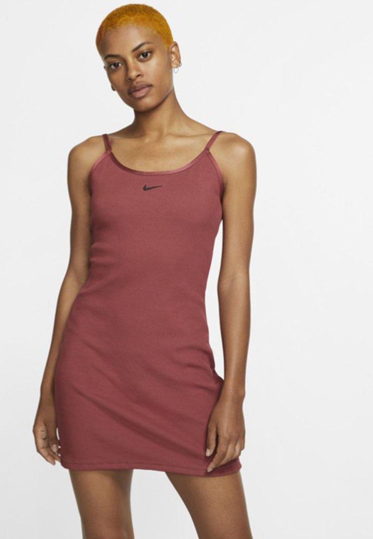 Nike Sportswear - DRESS - Shirt dress - cedar/black