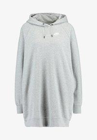 Nike Sportswear - W NSW ESSNTL FLC  - Vestito di maglina - grey heather/white - 4