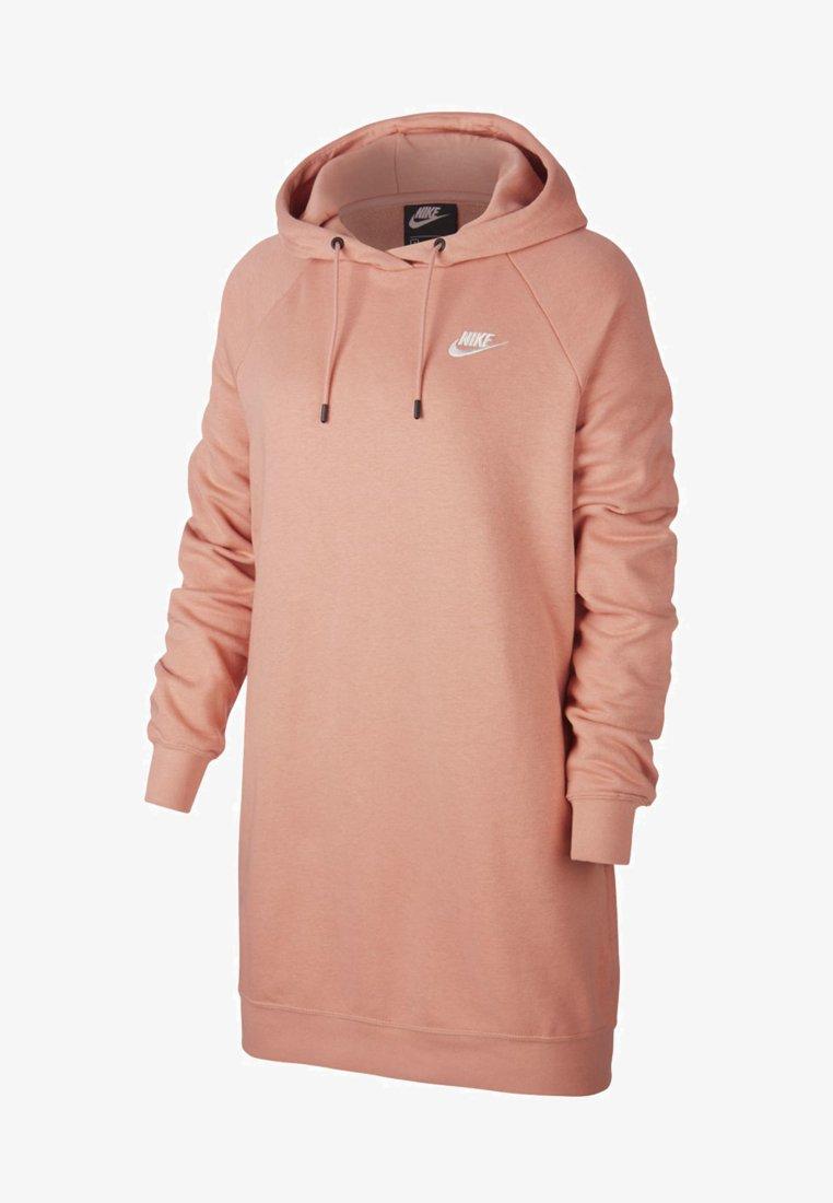 Nike Sportswear - W NSW ESSNTL FLC  - Sukienka z dżerseju - pink quartz/white