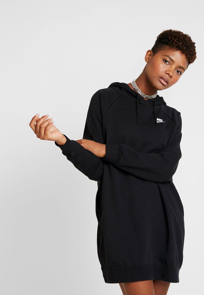 Nike Sportswear - W NSW ESSNTL FLC  - Sukienka z dżerseju - black