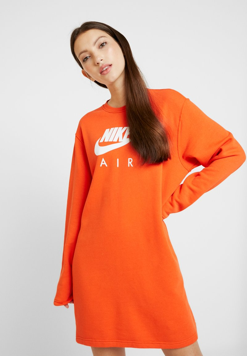 Nike Sportswear - AIR CREW  - Day dress - team orange