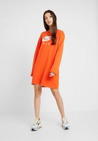 Nike Sportswear - AIR CREW  - Day dress - team orange - 1