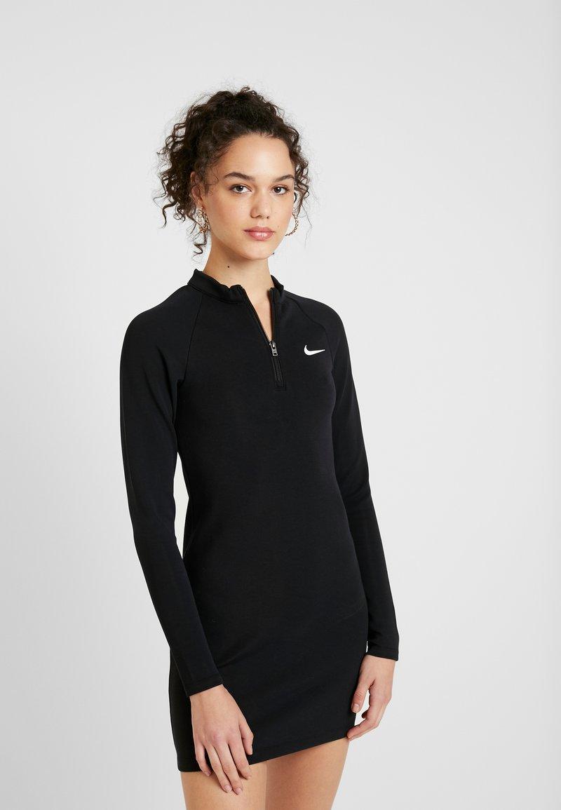 Nike Sportswear - W NSW ESSENTIAL LS - Etui-jurk - black/white