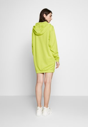 AIR HOODIE DRESS - Robe en jersey - limelight/bright cactus/ice silver