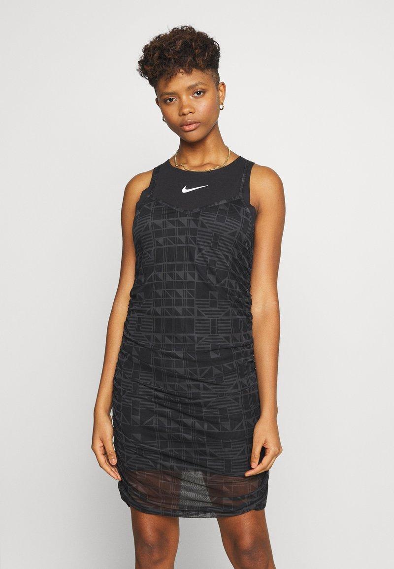 Nike Sportswear - INDIO - Day dress - black/white