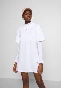 Nike Sportswear - DRESS - Jersey dress - white/black - 3