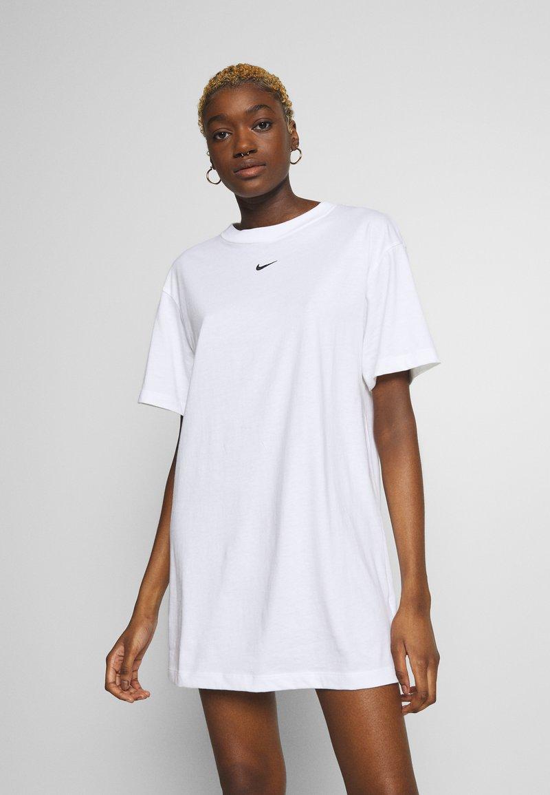 Nike Sportswear - DRESS - Jersey dress - white/black