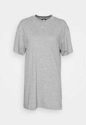 Jersey dress - dark grey heather/white