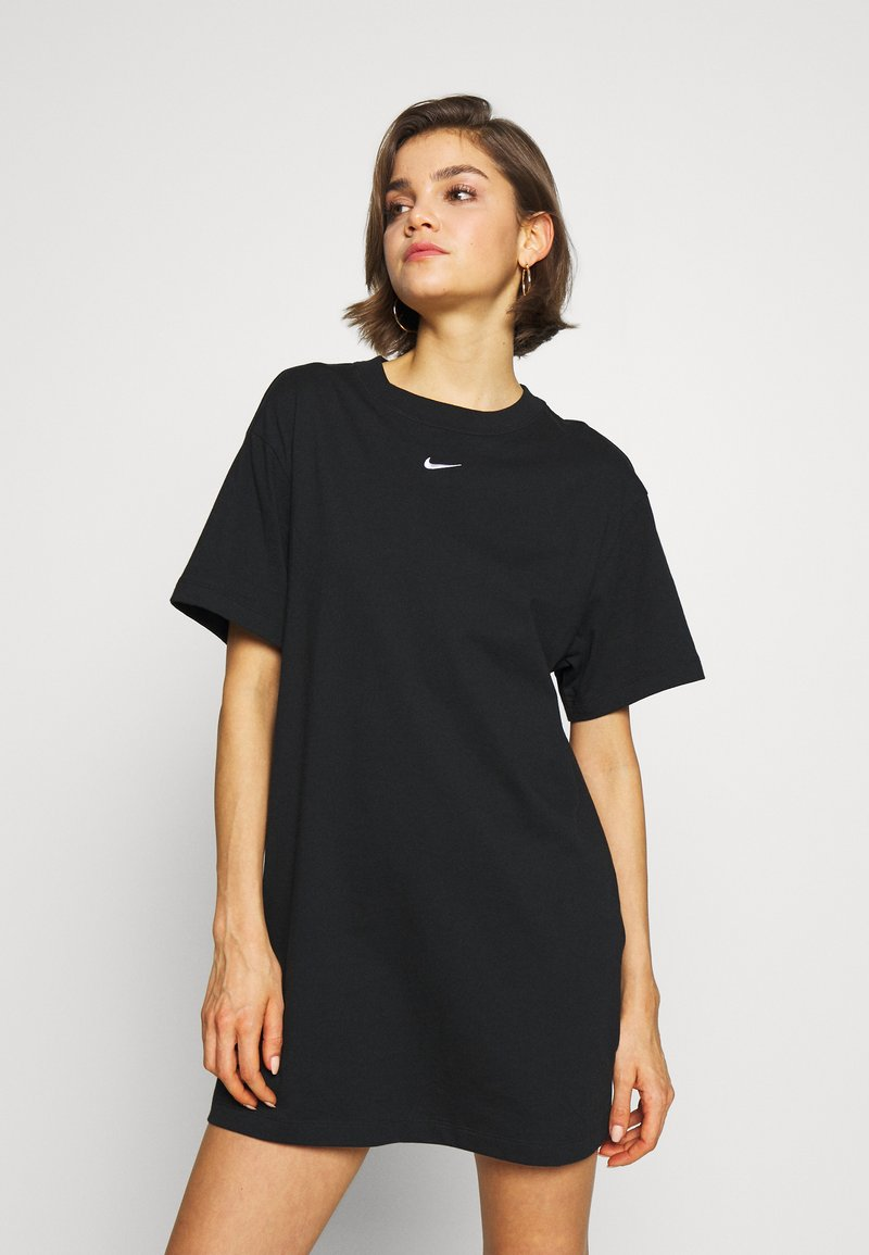 Nike Sportswear - W NSW ESSNTL DRESS - Sukienka z dżerseju - black/white