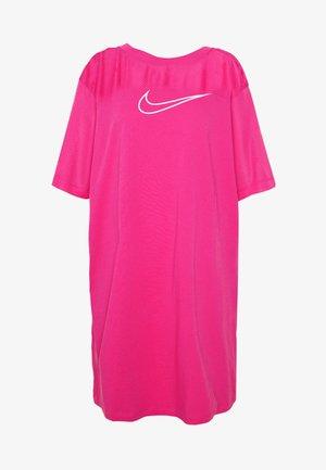 CORE PLUS - Jersey dress - watermelon/white