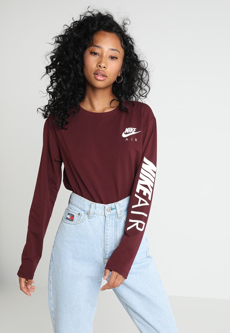 Nike Sportswear - AIR - Langærmede T-shirts - night maroon