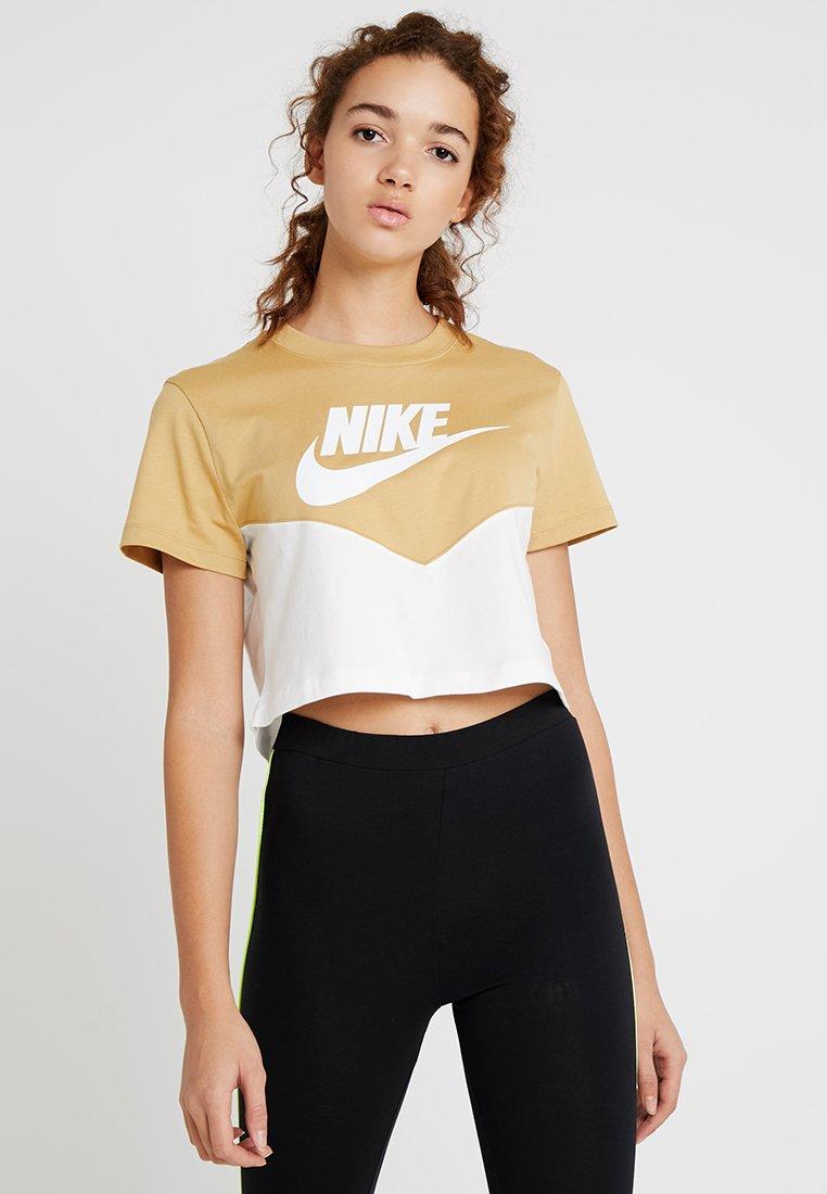 Nike Sportswear - T-Shirt print - beige/white