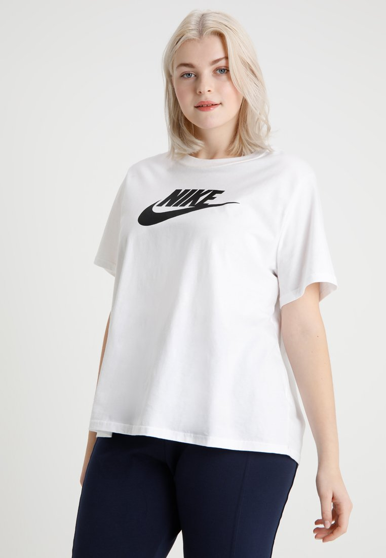 Nike Sportswear - TEE FUTURA PLUS - Print T-shirt - white/black