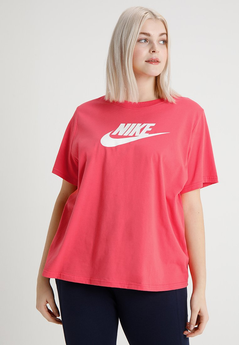 Nike Sportswear - TEE FUTURA PLUS - Print T-shirt - ember glow/white