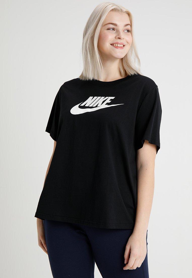 Nike Sportswear - TEE FUTURA PLUS - Printtipaita - black/white