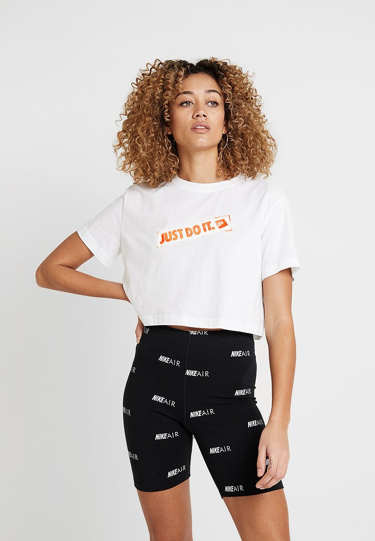 Nike Sportswear - TEE CROP STAMP - T-Shirt print - white