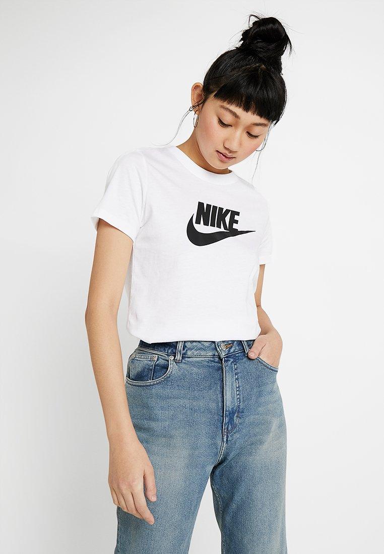Nike Sportswear - TEE ICON FUTURA - Print T-shirt - white/black
