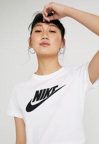 Nike Sportswear - TEE ICON FUTURA - Print T-shirt - white/black - 3