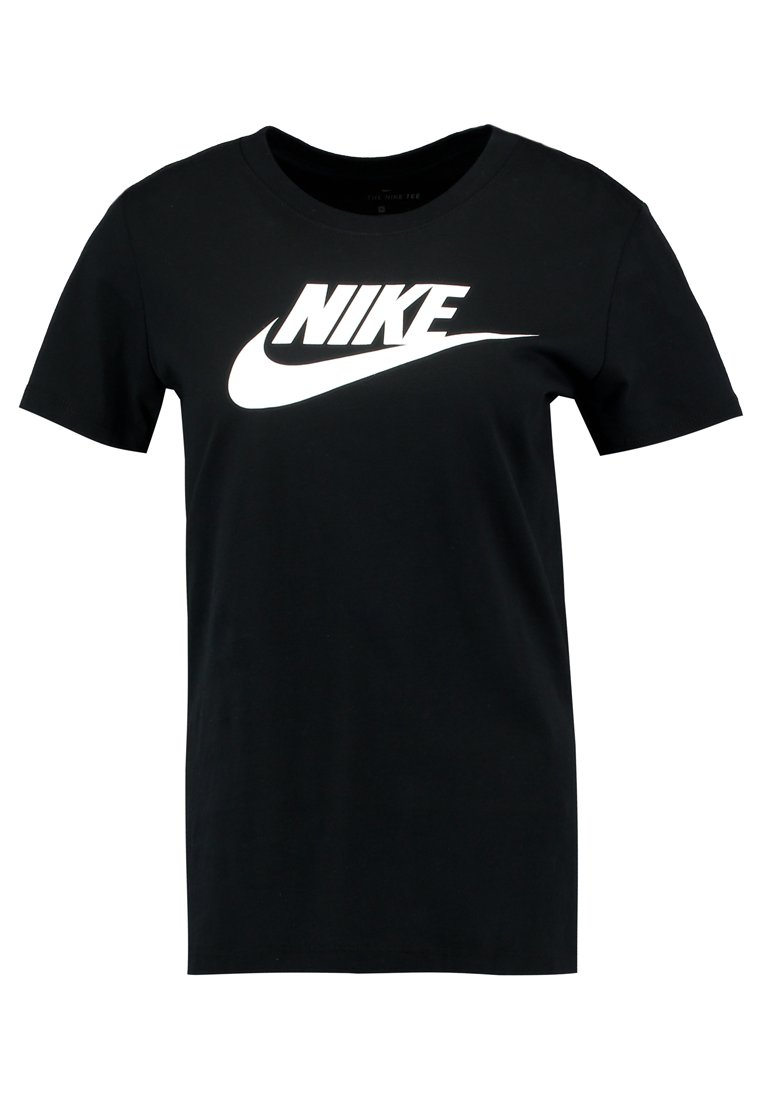 Nike Sportswear TEE ICON FUTURA - T-shirt z nadrukiem - black/(white)