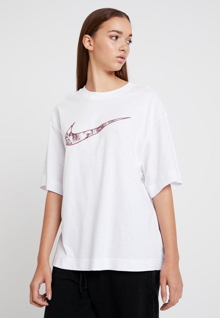 Nike Sportswear - T-Shirt print - white/team red
