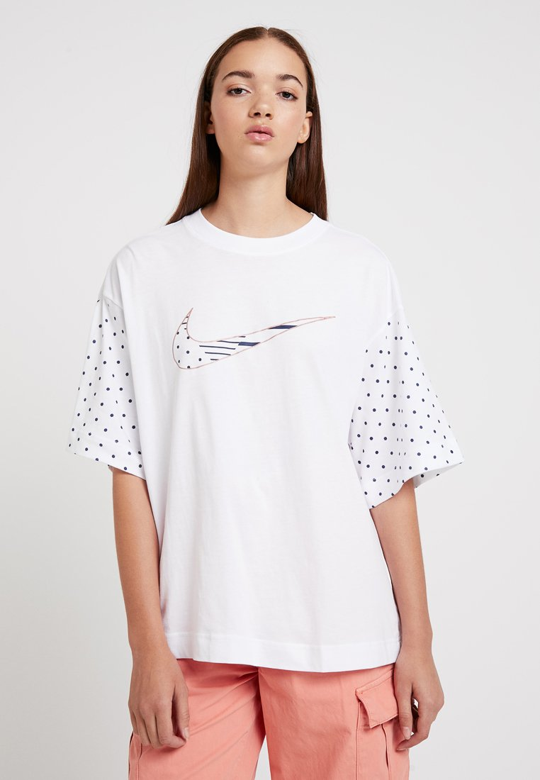 Nike Sportswear - T-Shirt print - white/midnight navy