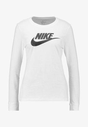 TEE ICON - T-shirt à manches longues - white/black