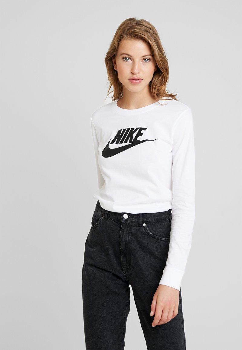 Nike Sportswear - TEE ICON - Langarmshirt - white/black