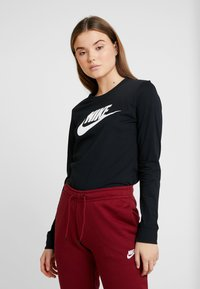 Nike Sportswear - TEE ICON - Long sleeved top - black/white - 0