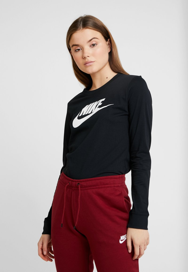 Nike Sportswear - TEE ICON - Long sleeved top - black/white