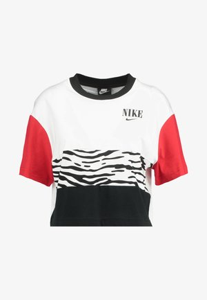 Camiseta estampada - white/university red/black